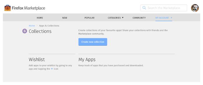 Collections, Wishlist & My Apps Screen (coldstart): Desktop