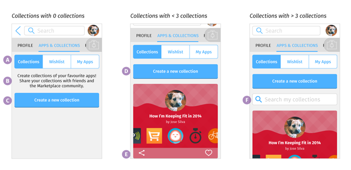 Collections Tab: Mobile